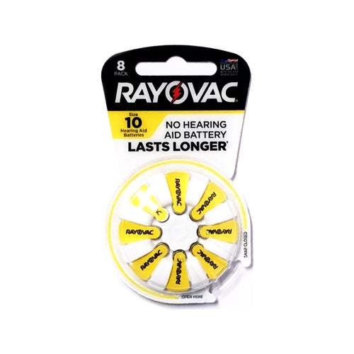 Rayovac Hearing Aid Batteries - Size 10 (8 Pack)