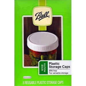 Ball Wide Mouth Reusable Plastic Storage Caps (8 Pack) with Free Local Delivery in Champaign & Vermilion County IL.