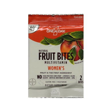 One A Day Natural Fruit Bites Multivitamin - Women's (2 Bites) Single Serve Package