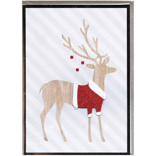 Fancy Christmas Reindeer Christmas Greeting Card with Envelope (5