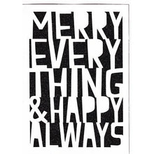 "Merry Everything & Happy Always Christmas Greeting Card with Envelope (5"" x 7"") with Free Local Delivery in Champaign & Vermilion County IL."