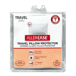 "Allergy Travel Pillow Protector Cover (14"" x 20"") Allergist Recommended"