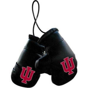 Indiana Hoosiers Mini Boxing Gloves with Hanging String with Free Local Delivery in Champaign & Vermilion County IL.