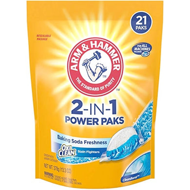 Arm & Hammer 2-IN-1 Laundry Detergent Power Paks (21 Pack) CleanBurst with Free Local Delivery in Champaign & Vermilion County IL.