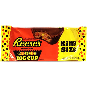 Reese's Big Cup with Pieces Chocolate Candy Bar (Net Wt. 2.8 oz.) King Size