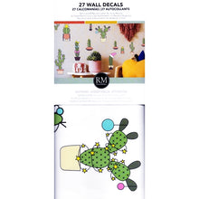 RoomMates Cactus Christmas Holiday Wall Decals (27 Pack) Removable & Respositionable