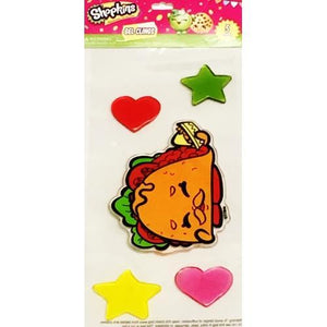 Shopkins 5-piece Gel Clings Set (Taco Terrie) with Free Local Delivery in Champaign & Vermilion County IL.
