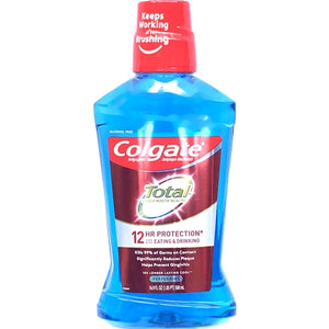 Colgate Total Anti-gingivitis/Anti-plaque 12 Hr. Protection Mouthwash - Peppermint (16.9 fl. oz.) Kills 99% of Germs on Contact