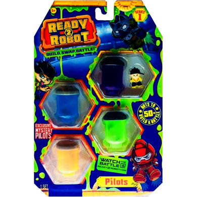 Ready2Robot Mystery Pilots 4-Pack Series 1 (Style 1) Slime Containers