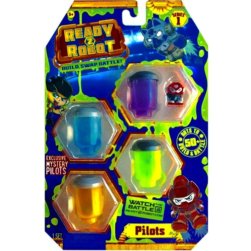 Ready2Robot Mystery Pilots 4-Pack Series 1 (Style 2) Slime Containers