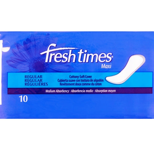 Fresh Times Regular Maxi Pads (10 Pack ) with Free Local Delivery in Champaign & Vermilion County IL.