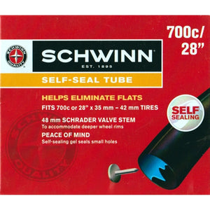 "Schwinn Self-Sealing Tube (Fits 700c or 28"" x 35-42mm Tires)"