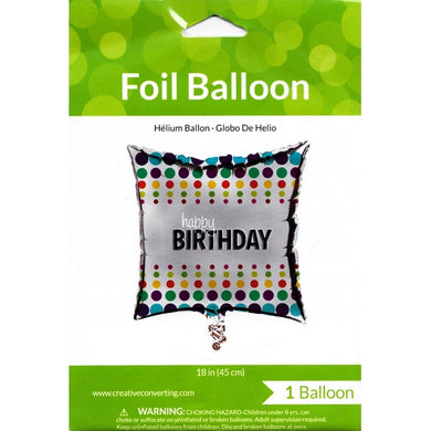 Happy Birthday Foil Balloon (18