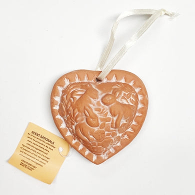 Bunny Rabbits Heart - Aromatherapy Terracotta Collectible Essential Oil Diffuser with Free Local Delivery in Champaign & Vermilion County IL.