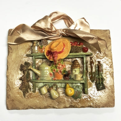 Vintage Style Country Kitchen 3D Ceramic Art Decor Plaque - Gift Boxed (5