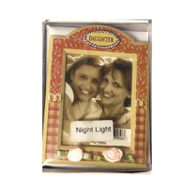 "Personalized Picture Frame Night Light - Gift Boxed (Fits 2"" x 3"" Picture) Select Design"