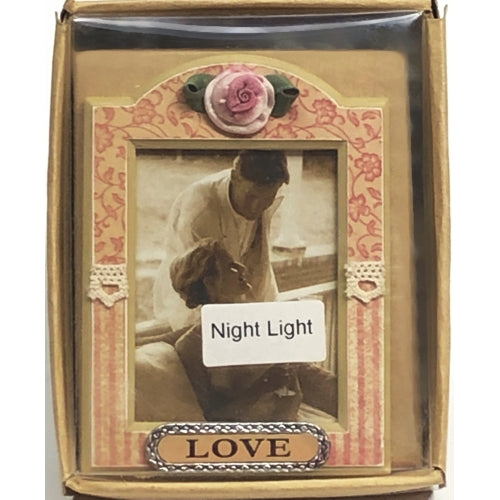 True Love Picture Frame Night Light Gift Boxed (Fits 2
