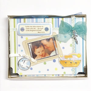 "Baby Baptism 4"" x 6"" Mini Photo Album Gift Boxed (Holds 24 Pictures) with Free Local Delivery in Champaign & Vermilion County IL."