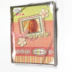 "It's A Girl 4"" x 6"" Mini Photo Album Gift Boxed (Holds 24 Pictures) with Free Local Delivery in Champaign & Vermilion County IL."