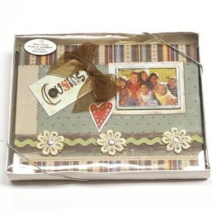 "Cousins 4"" x 6"" Mini Photo Album Gift Boxed (Holds 24 Pictures) with Free Local Delivery in Champaign & Vermilion County IL."