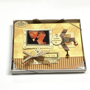 "Golden Anniversary 50th 4"" x 6"" Mini Photo Album Gift Boxed (Holds 24 Pictures) with Free Local Delivery in Champaign & Vermilion County IL."