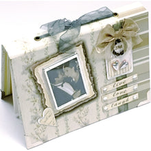 "Silver Anniversary 25th - Live Love Laugh 4"" x 6"" Mini Photo Album Gift Boxed (Holds 24 Pictures)"