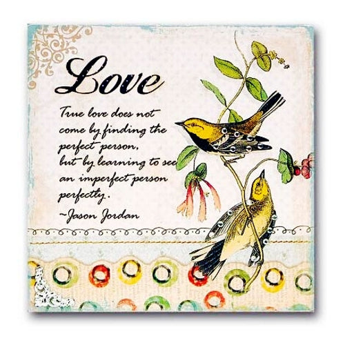 True Love Handcrafted Decorative Wood Plaque Gift Boxed (8
