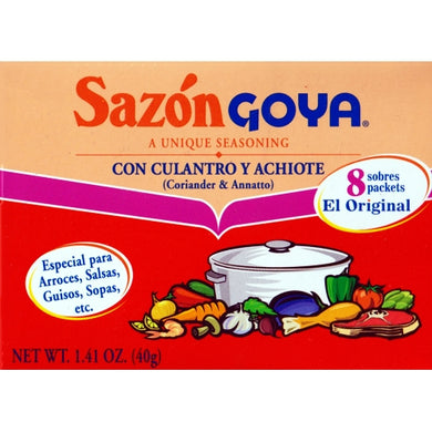 Sazon with Coriander & Annatto (con Culantro Y Achiote) 8 Packs