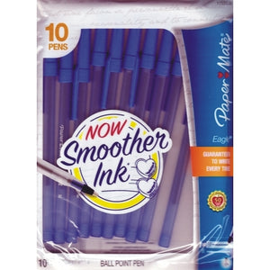 Paper Mate Eagle Blue Ball Point Ink Pens (10 pack)