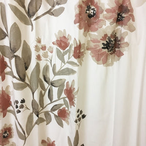 "Coral Blooms Flat Weave Fabric Shower Curtain (72"" x 72"") with Free Local Delivery in Champaign & Vermilion County IL."