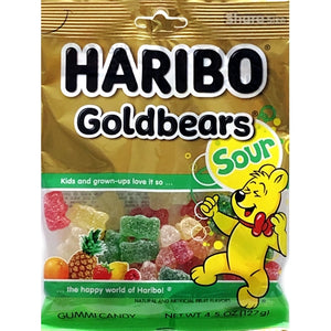 Haribo Sour GoldBears Gummi Candies (Net Wt. 4.5 oz.)