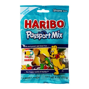 Haribo Passport Mix Gummi Candies (Net Wt. 4 oz.) Anniversary Edition