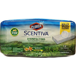 Clorox Scentiva Disinfecting Wet Mopping Cloth Wipes (12 Pack) Scents Vary