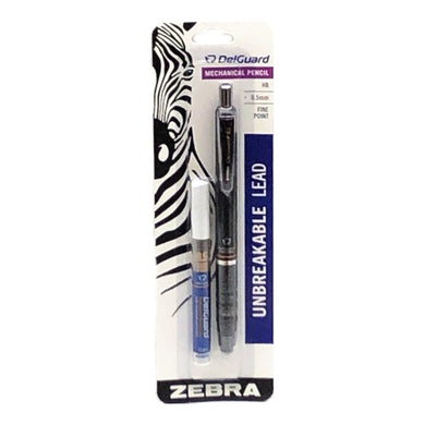 DelGuard Mechanical Pencil Combo Pack (1 Fine Point Pencil, 12 Leads)