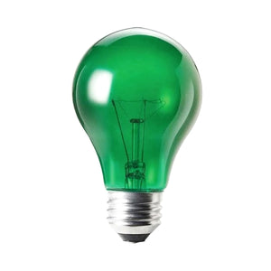 Sylvania 38W Transparent Green A19 Light Bulb (1 Pack) Made in USA