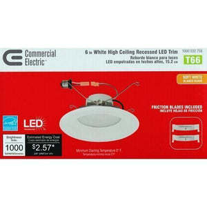 "6"" White High Ceiling Recessed Dimmable LED Light with Free Local Delivery in Champaign & Vermilion County IL."