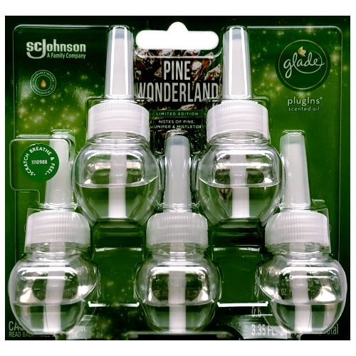 Glade PlugIns Scented Oil Refills - Pine Wonderland (5 Pack) Limited Edition