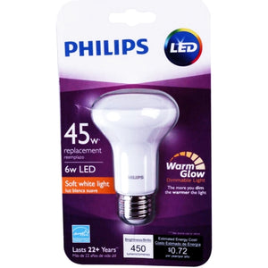 Philips 6W LED Indoor R20 Flood Dimmable Light Bulb - Soft White (1 Count) 45W Replacement