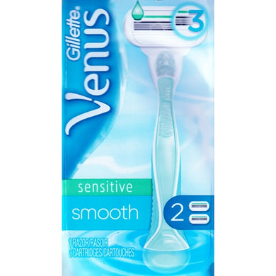 Gillette Venus Sensitive Smooth 3-Blade Razor with 2 Refill Cartridges Pack