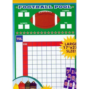 "Football Pool Party Game Kit (Large 17"" x 27"" Size) 20% to 80% Off at DollarFanatic.com America's Online Dollar Store"