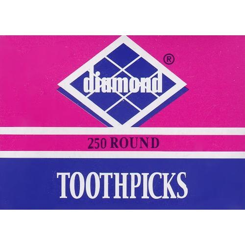 Diamond Round Wood Toothpicks (250 Pack) with Free Local Delivery in Champaign & Vermilion County IL.