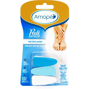 Amope Pedi Perfect Nail Care Heads Refills (3 Pack)