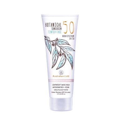 Australian Gold Botanical Sunscreen Tinted Face BB Cream for Fair to Light Skin Tones - SPF 50 (3 fl. oz.)