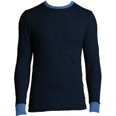 Hanes Men's Tagless Thermal Crew Neck Long Sleeve Top - Blue (Small)