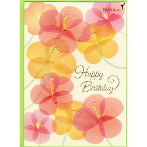 Happy Birthday Floral Greeting Card with Envelope (Papyrus) 20% to 80% Off at DollarFanatic.com America's Online Dollar Store