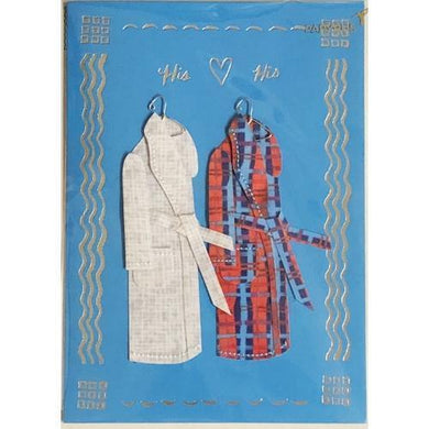 His & His Happy Anniversary Greeting Card with Envelope (Papyrus) 20% to 80% Off at DollarFanatic.com America's Online Dollar Store