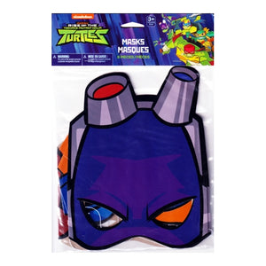 Rise of the Teenage Mutant Ninja Turtles Party Masks (8 Pack)
