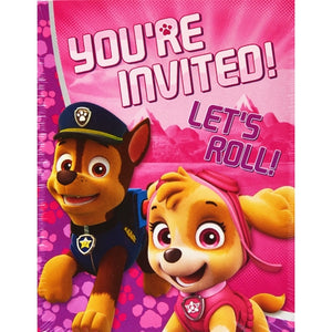 DesignWare Pink Paw Patrol You're Invited Party Invitations with Envelopes/Thank You Postcards (25 Pack)