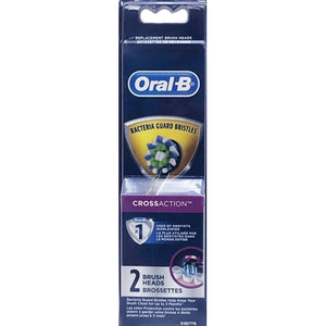 Oral-B Cross Action Replacement Brush Heads for Select Electric Toothbrushes (2 Pack)
