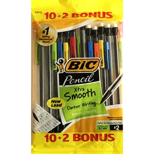 Bic Xtra Smooth #2 Mechanical Pencils (10 + 2 Pack)